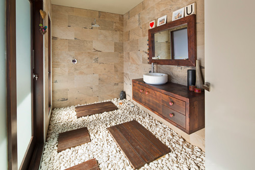 Loose River Stone Pebble Floors | Lifestyle Stone
