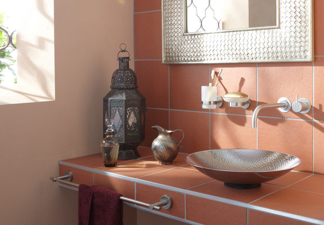 no drill bath accessories for tile stone glass modern bathroom raleigh by innovative