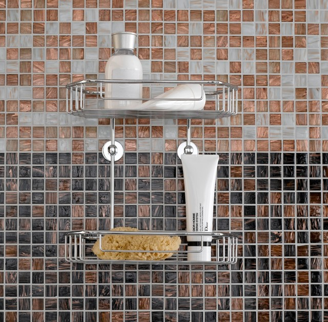 no drilling required Shower Caddys - Contemporary - Bathroom - New ...