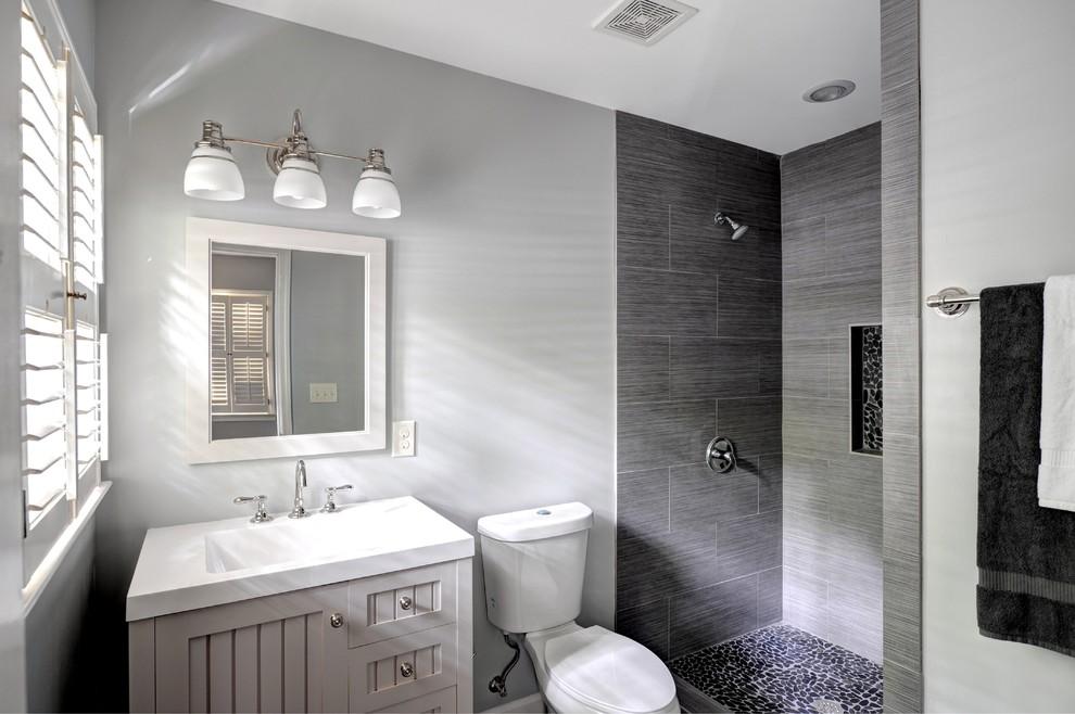Inspiration for a timeless bathroom remodel in Atlanta