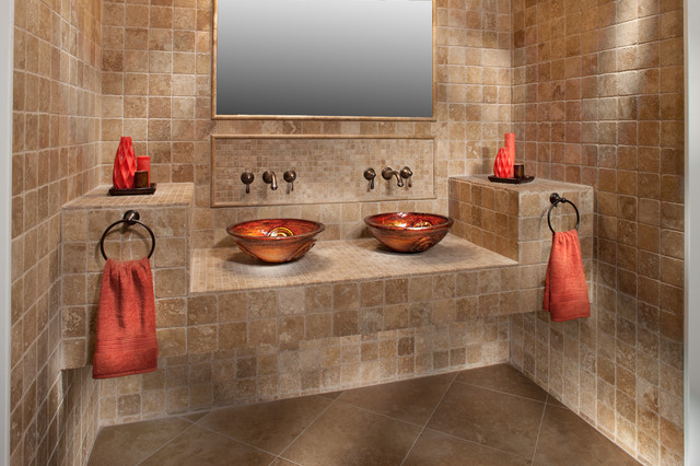 Awesome Bathroom Sink Vanity With Single Handle Tub Faucet