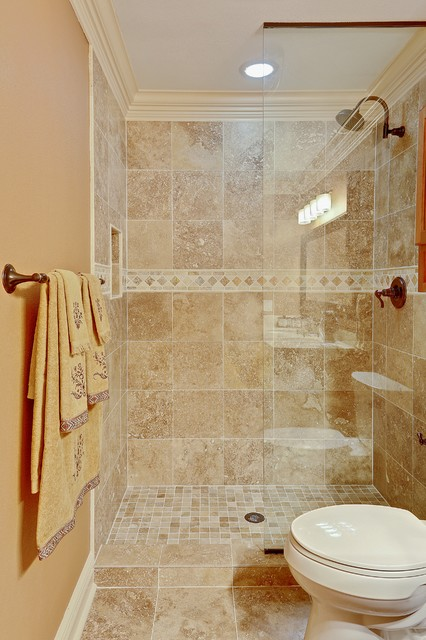 Normandy dr kenner la custom shower traditional bathroom new orleans by mlm incorporated for Standing shower bathroom ideas