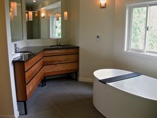 North Boulder County bathroom remodel - Contemporary ...