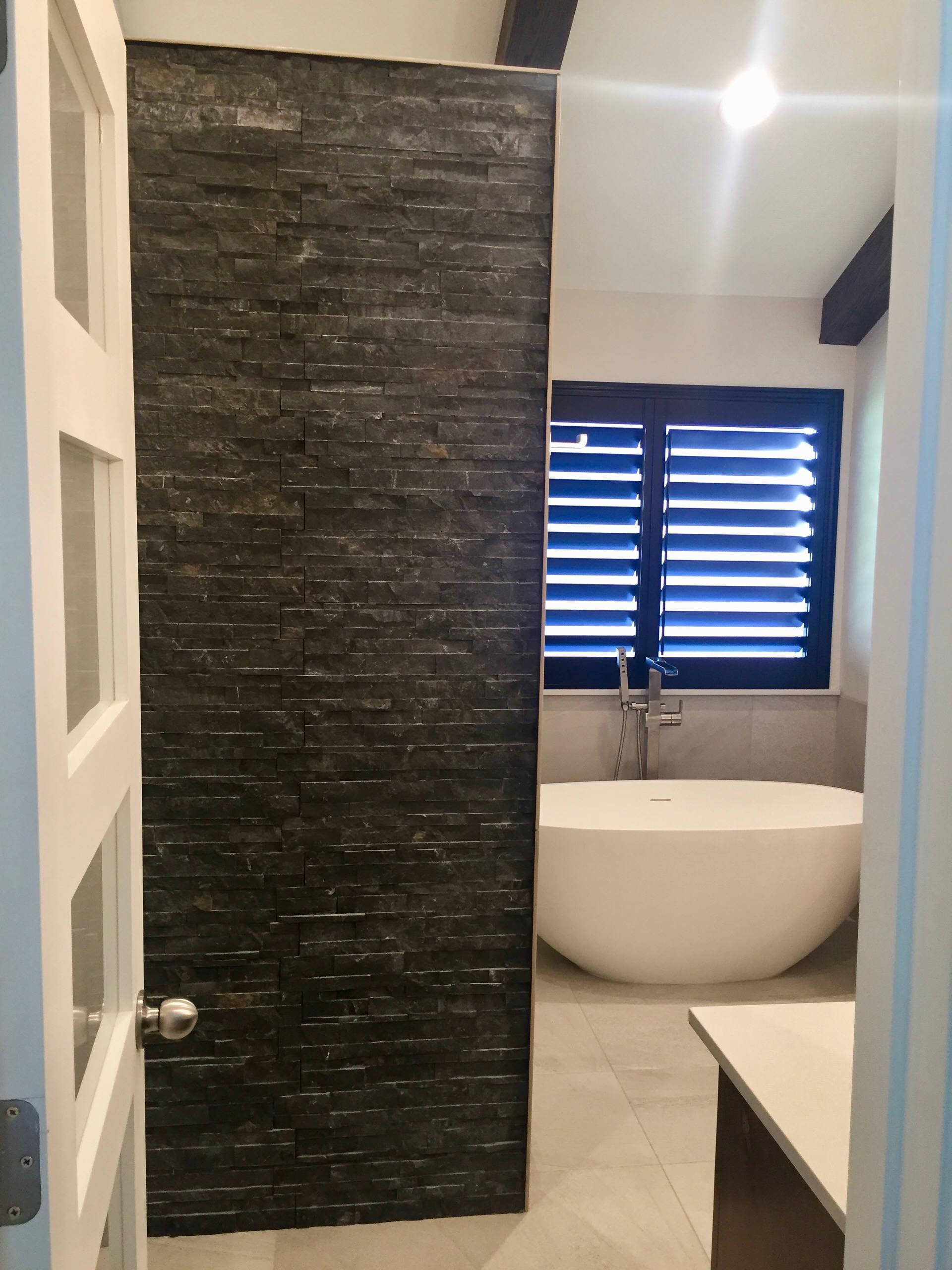 North Dallas Contemporary Master Bathroom