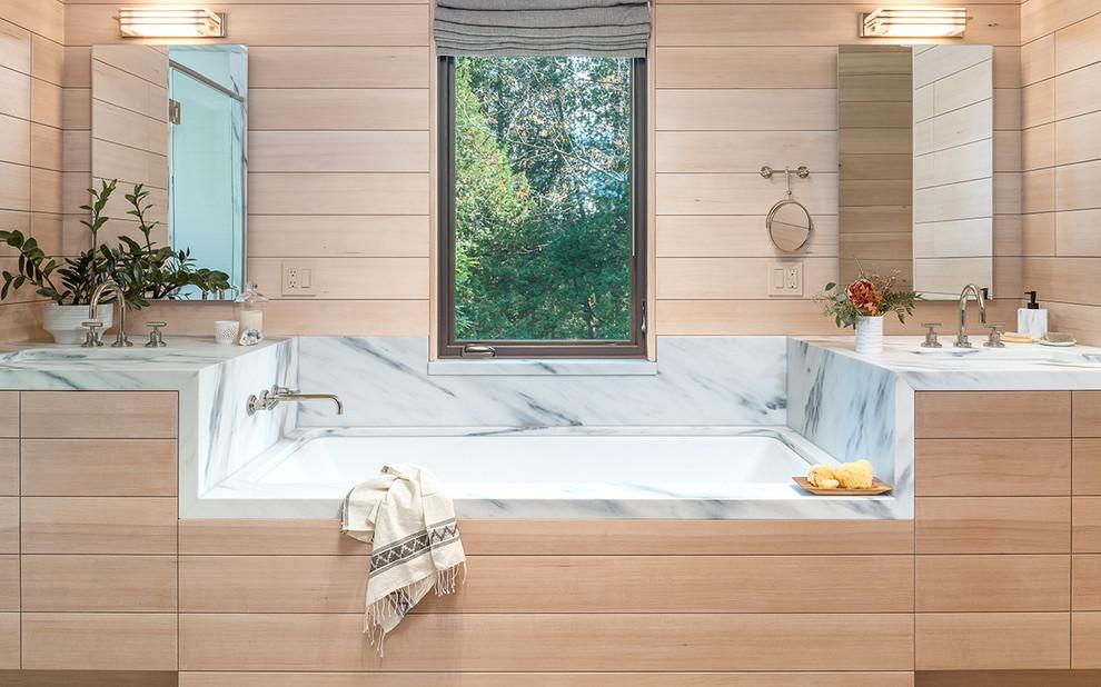 North Harbor Camp - Rustic - Bathroom - Burlington - by ...
