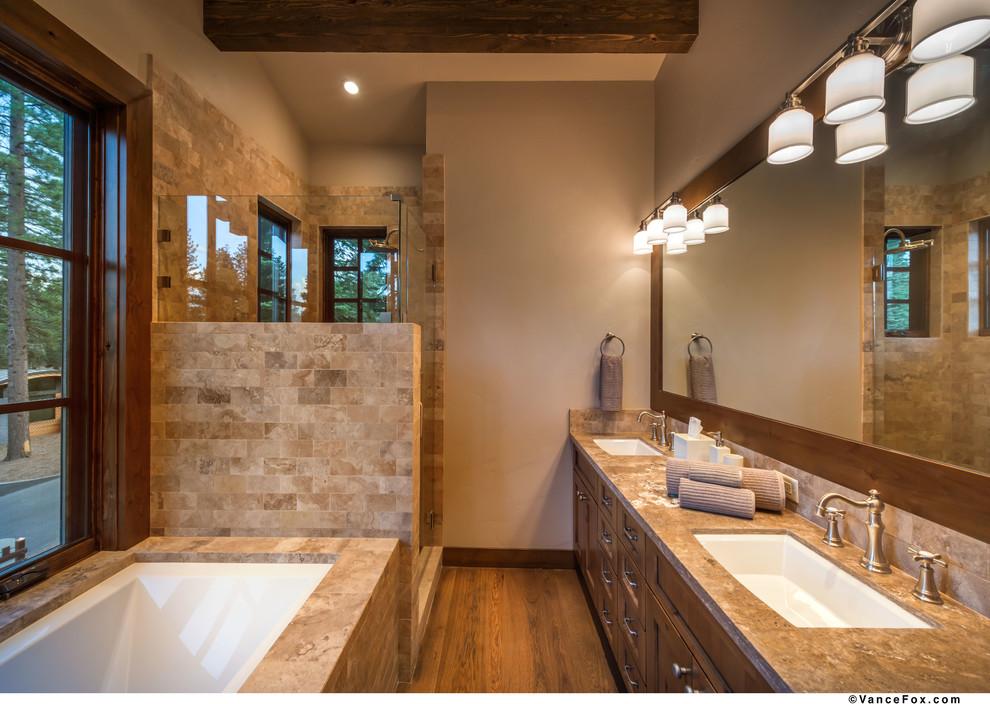 North Lake Tahoe Retreat - Transitional - Bathroom ...
