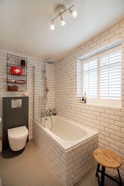 North london flat eclectic bathroom london by for Bathroom design north london