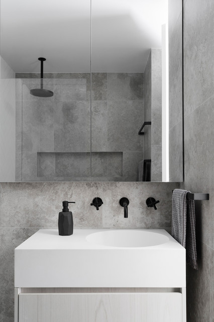 North Melbourne Contemporary Bathroom Melbourne By Gia Bathrooms Kitchens