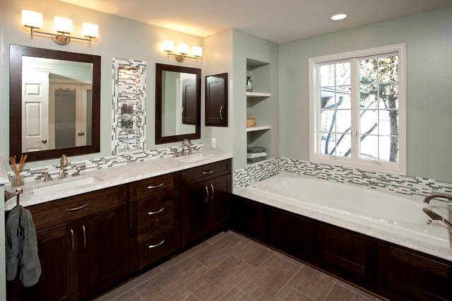 North Oaks Modern Spa Inspired Bathroom contemporary-bathroom