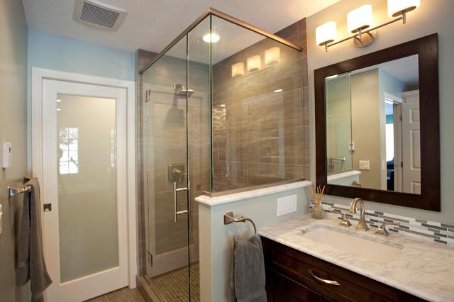 North oaks modern spa inspired bathroom for Spa inspired bathroom designs