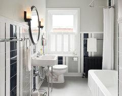 Striped Guest Bath traditional-bathroom