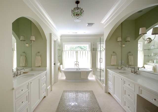 designers touch the master bathroom