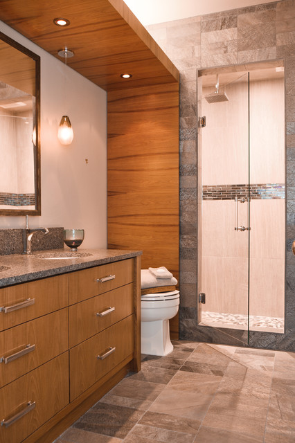 Northwest guest bath renovation contemporary bathroom for Furniture gig harbor
