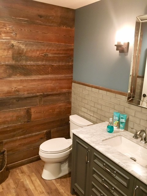 novi michigan rustic finished basement rustic basement