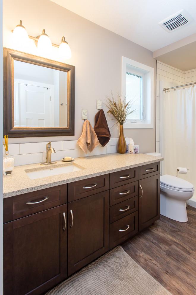 NW Medicine Hat Renovation - Contemporary - Bathroom ...