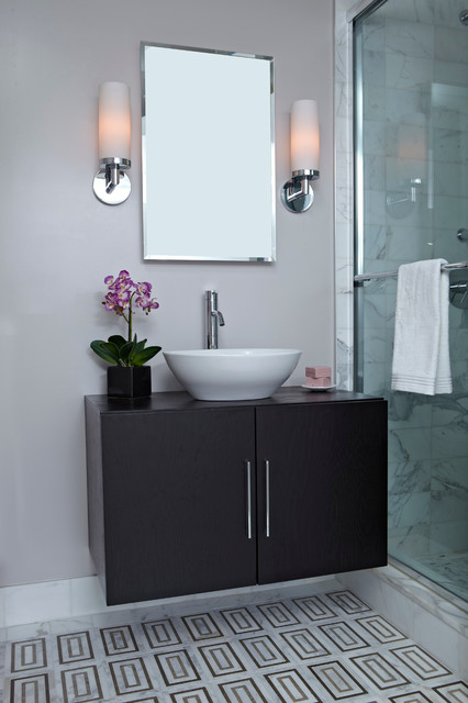 NYC Apartment Custom Renovation Design Contemporary Bathroom New