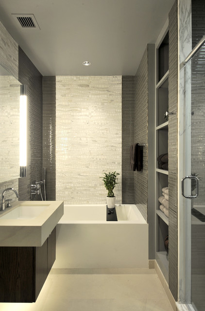 Model Subway Tile Bathroom  Traditional  Bathroom  New York  By Deep