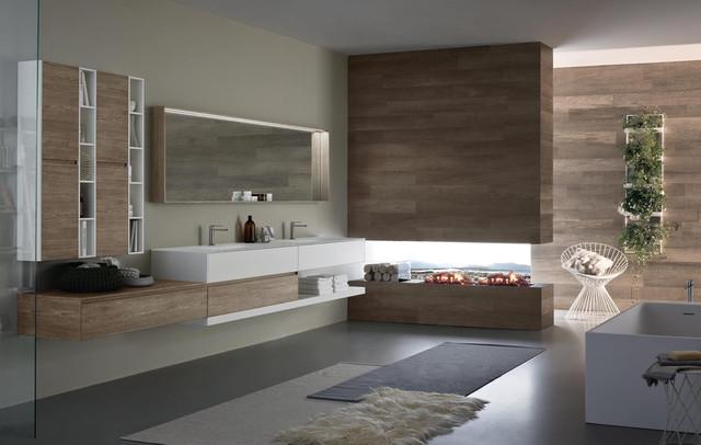Modern bathroom vanity lighting - Nyu Collection By Idea Group Modern Bathroom