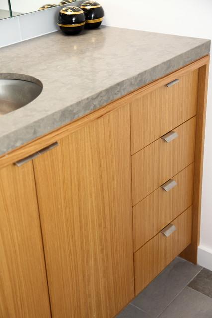 Oak Custom Vanity contemporary-bathroom