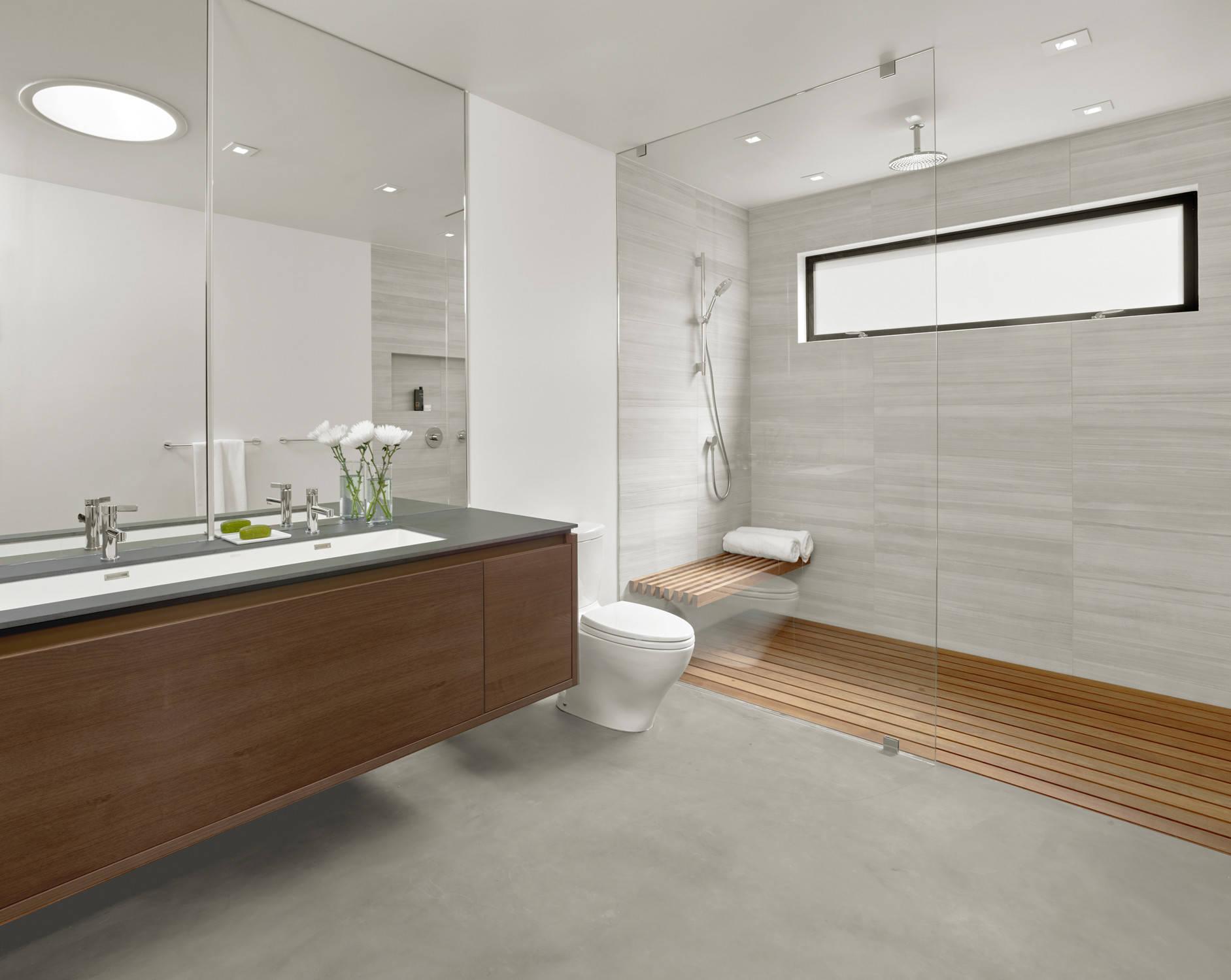 75 Beautiful Concrete Floor Bathroom, Concrete Floor Bathroom Ideas