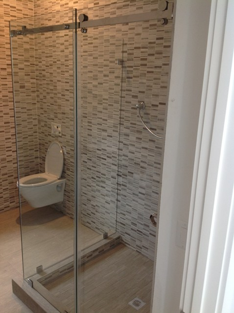 Oasis By-Pass Sliding Doors contemporary-bathroom