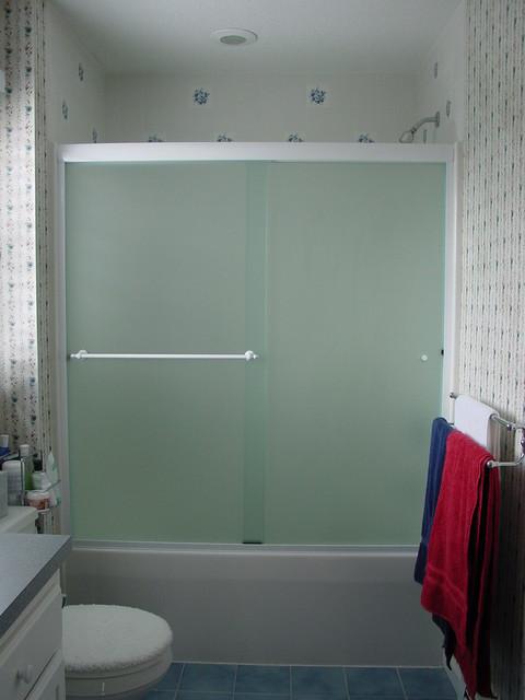 Oasis By Pass Sliding Doors Modern Bathroom Boston