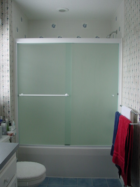 Oasis By Pass Sliding Doors Modern Bathroom Boston