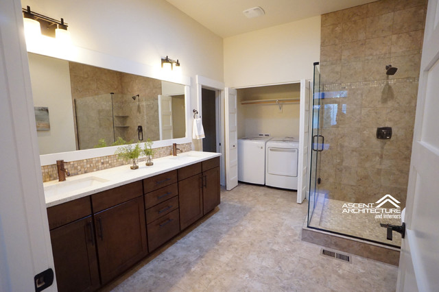 Ob riley tuscan style townhomes rustic bathroom for Kitchen design 07631
