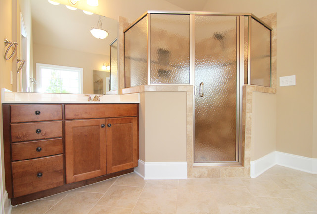 Obscure glass shower traditional bathroom raleigh by stanton