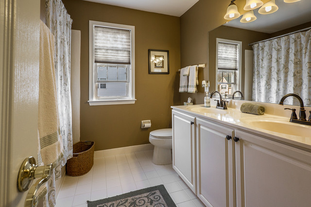 """""""Occupied"""" Staging-Sold in Record Time! transitional-bathroom"""