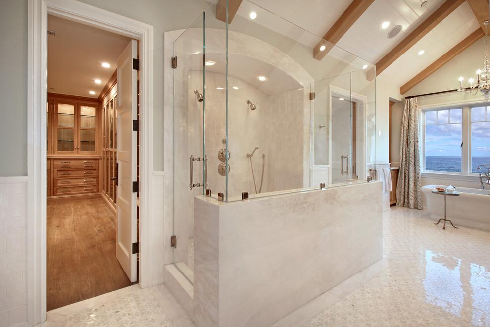 Bathroom - contemporary bathroom idea in Orange County