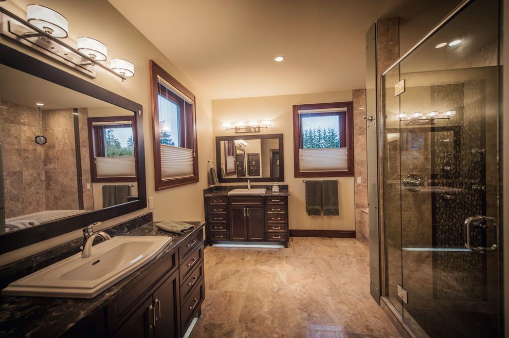 Elegant bathroom photo in Vancouver