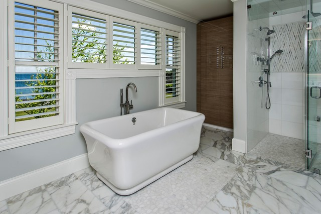 Ocean Front Home Cape Elizabeth Contemporary Bathroom Portland Maine By Maine Coast