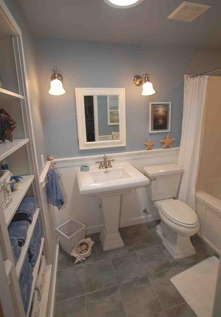 Ocean themed bath traditional bathroom boise by for Bath remodel boise