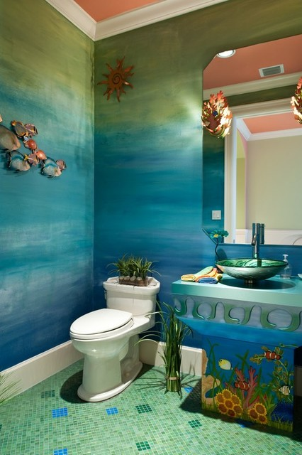 Oceanfront florida tropical bathroom detroit by for Florida bathroom ideas
