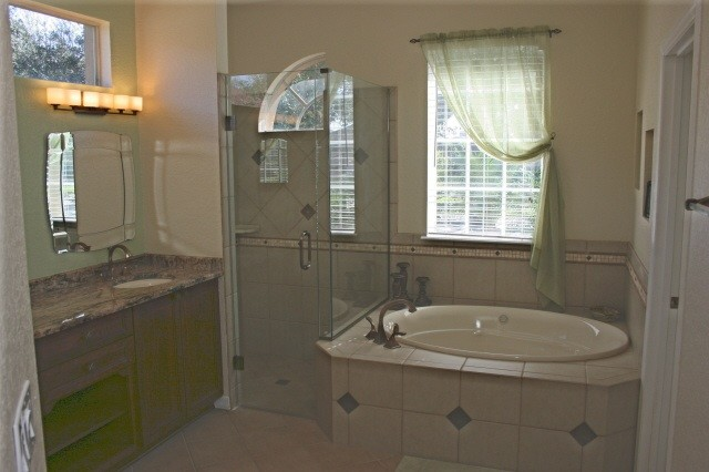 Ocoee area master bathroom remodel traditional for Bathroom remodelers in my area