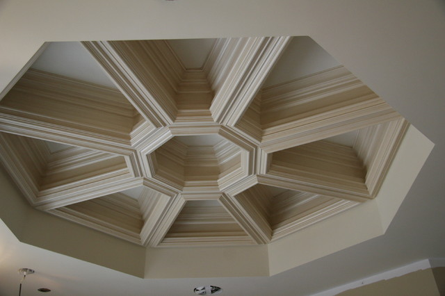 octagonal coffer traditional bathroom