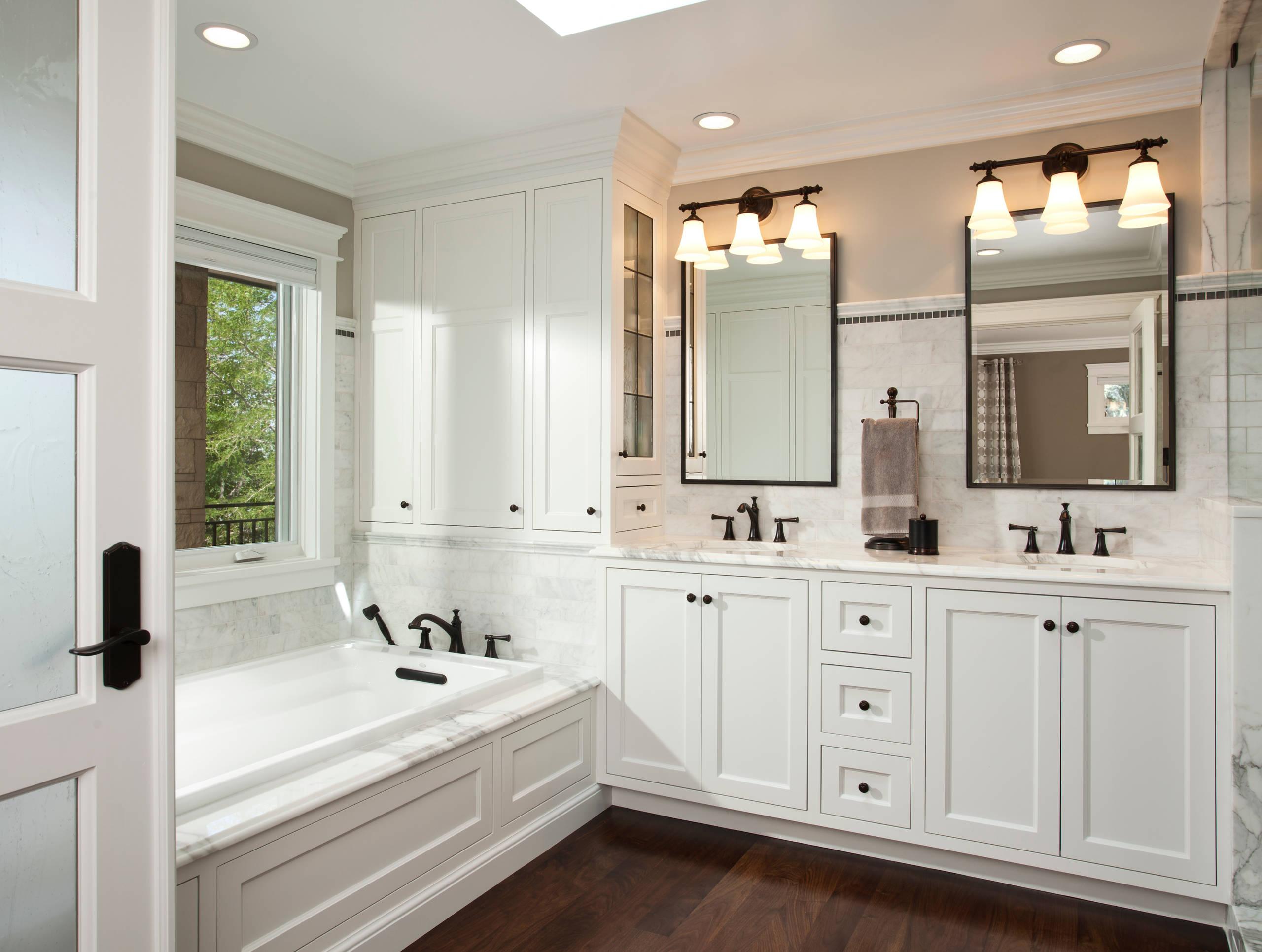 75 Beautiful Dark Wood Floor Bathroom Pictures Ideas February 2021 Houzz