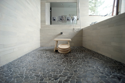 Who makes the interesting stone floor tile?