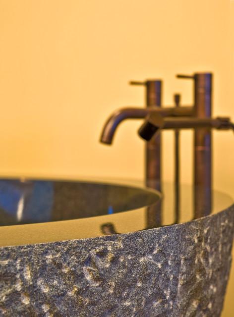 Okanagan Log Home rustic-bathroom