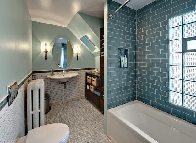 Old Bathroom, New Style Contemporary Bathroom