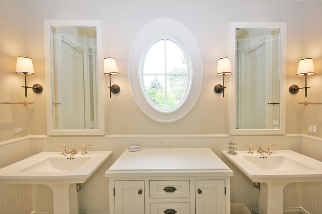 Old irving park single family home traditional bathroom chicago by tandem architecture - Change your old bathroom to traditional bathrooms ...