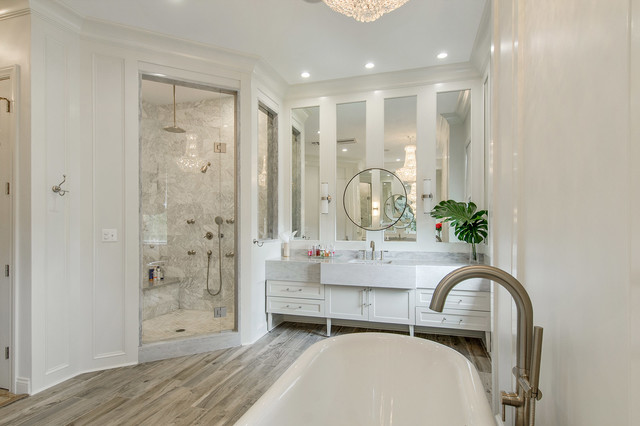 Old metairie master bathroom renovation for Bathroom renovation new orleans