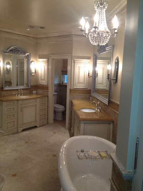 Old oak bathroom remodel traditional bathroom dallas by rs construction - Change your old bathroom to traditional bathrooms ...
