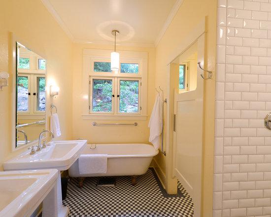 River rock tile bathroom design ideas pictures remodel amp decor with