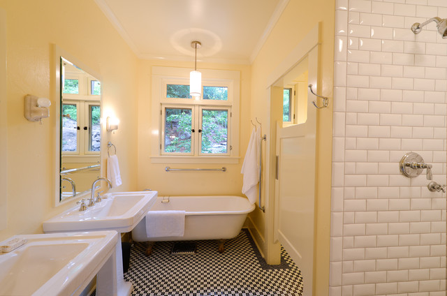Old River Rd House traditional-bathroom
