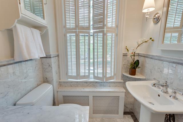 Old Town Alexandria Hall Bathroom Remodel Transitional Bathroom Charlotte By Meg Tawes