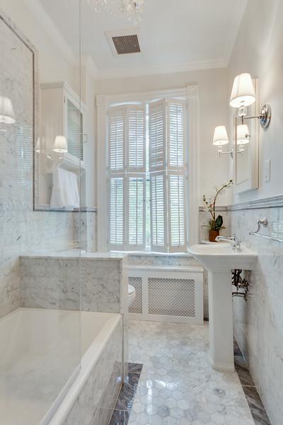 Old Town Alexandria Hall Bathroom Remodel Transitional Bathroom Atlanta By Meg Tawes