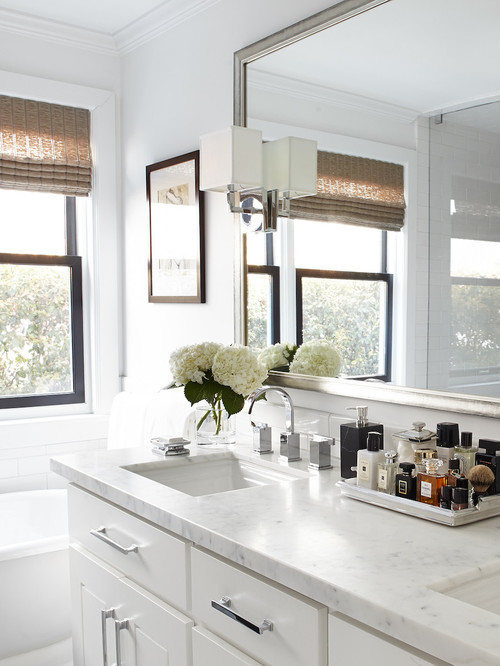 Design Challenge: Perking Up a Classic White Bathroom - AOL ...