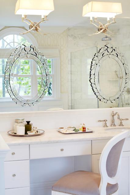 Old Westbury Neoclassical Contemporary Bathroom New